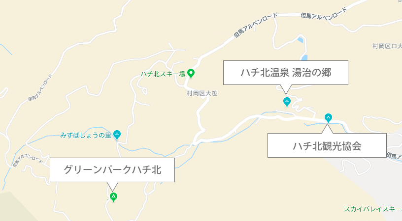 ハチ北マップ